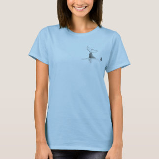 Camiseta T cabido duas orcas