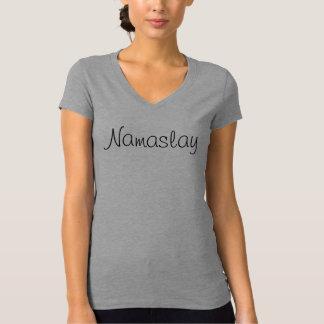 Camiseta T cabido ioga do jérsei de Namaslay