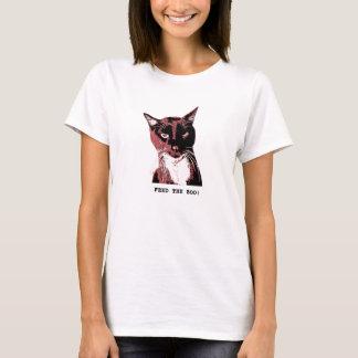 Camiseta T-camisa-ALIMENTAÇÃO do gato do smoking a VAIA