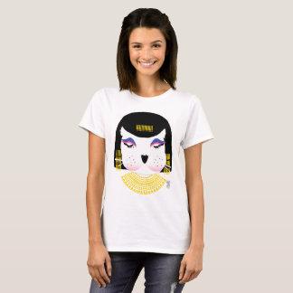 Camiseta T-camisa animal do gráfico de Cleopatra da boneca