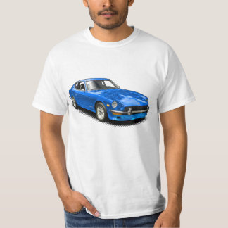 Camiseta T-Camisa clássica do Z-Car do vintage azul