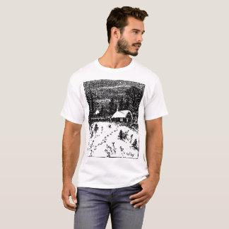 Camiseta T-Camisa da ilustração da fazenda de Colby
