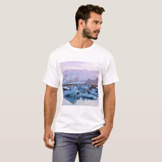 Camiseta T-Camisa da lagoa da geleira de Jökulsárlón
