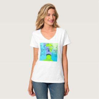 Camiseta T-Camisa do branco da iluminação