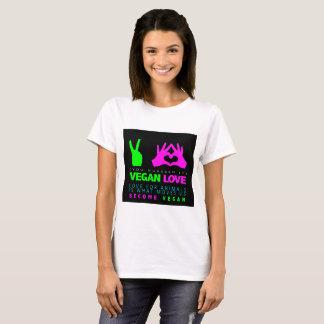Camiseta T-Camisa do branco do amor do Vegan