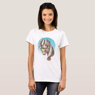 """Camiseta T-camisa do cavalo do ímã de Equi-toons """"Apple   """""""