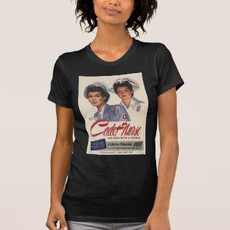 Camiseta T-Camisa do vintage da enfermeira do cadete