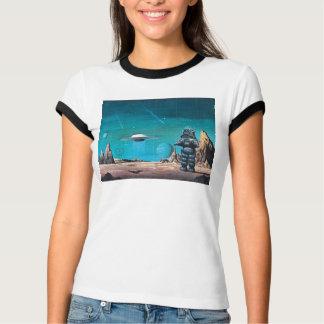 Camiseta T-camisa retro de luxe proibida do planeta