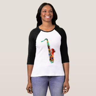 Camiseta T-camisas do saxofone