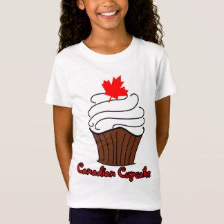 Camiseta T canadense do cupcake das meninas