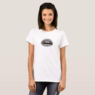 Camiseta T Checkered dos lábios