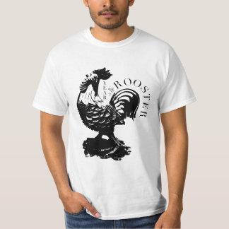 Camiseta T chinês dos homens da silhueta do preto do ano do