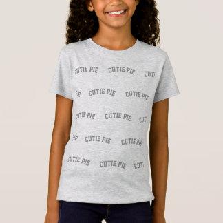 Camiseta T cinzento da TORTA de CUTIE