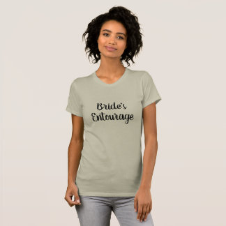 Camiseta T cinzento do t-shirt do séquito da noiva