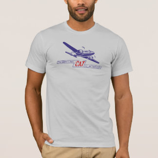 Camiseta T civil do transporte aéreo do CAT de Oriente
