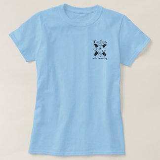 Camiseta T claro vertical do B&W das mulheres do Troth
