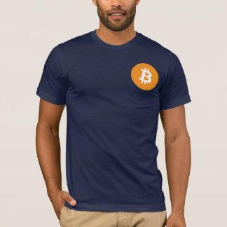Camiseta T clássico de Bitcoin do marinho
