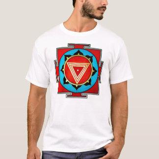 Camiseta T colorido branco de Kali Yantra