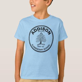 Camiseta T colorido dos miúdos, logotipo preto de Addison