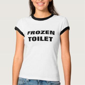 Camiseta T congelado da moeda de um centavo do toalete