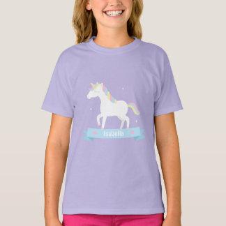 Camiseta T conhecido das meninas Pastel brancas bonitos da