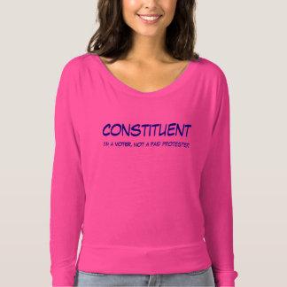 Camiseta T constitutivo das senhoras