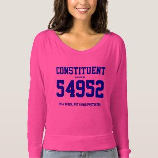 Camiseta T constitutivo das senhoras com seu código postal