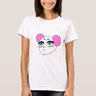 Camiseta T cor-de-rosa bonito da panda