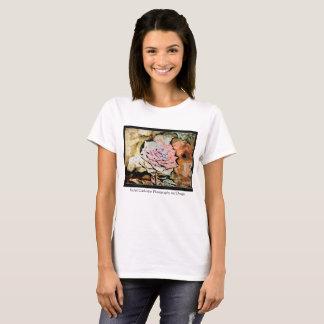 Camiseta T cor-de-rosa da fotografia e do design de Rachel