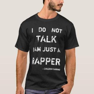 Camiseta T criançola do poema lírico de Gambino
