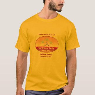 Camiseta T cruzado do cruzeiro do grupo das palmas