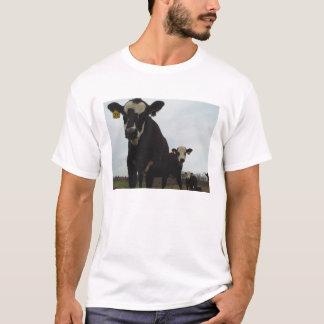 Camiseta T curioso das vacas 2