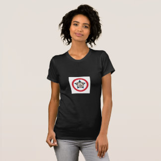 Camiseta T Curto-Sleeved do macaco senhoras super