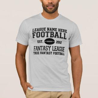 Camiseta T customizável do campeonato de futebol da