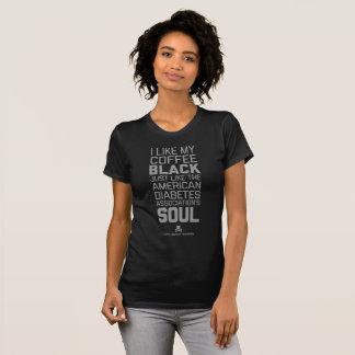 Camiseta T da alma do café preto da humanidade de Agains