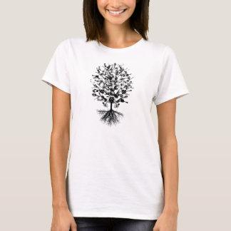 Camiseta T da árvore dos instrumentos musicais