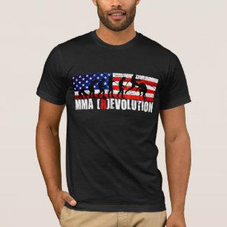 Camiseta T da bandeira americana da carta da evolução do