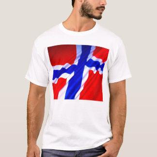 Camiseta T da bandeira de Noruega