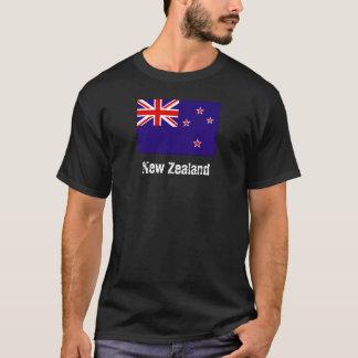 Camiseta T da bandeira de Nova Zelândia