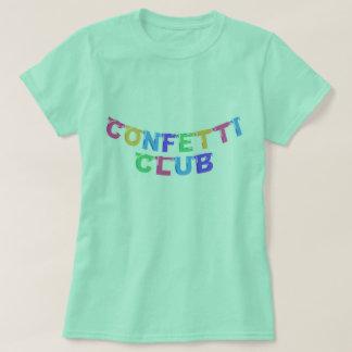 Camiseta T da bandeira do clube dos confetes