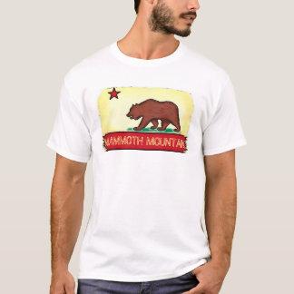 Camiseta T da bandeira do estado das caras de Mammoth
