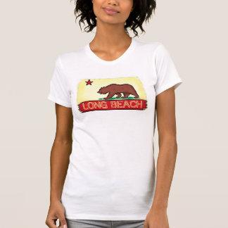 Camiseta T da bandeira do estado das senhoras de Long Beach