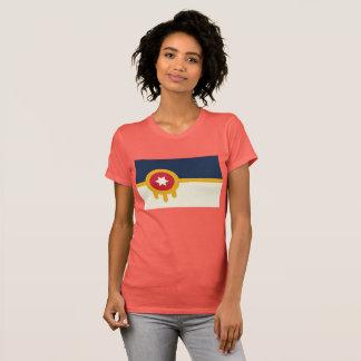 Camiseta T da bandeira do Tulsa das mulheres
