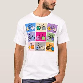 Camiseta T da bicicleta da arte de Mondrian