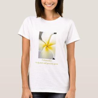 Camiseta T da boneca das mulheres do design do Plumeria