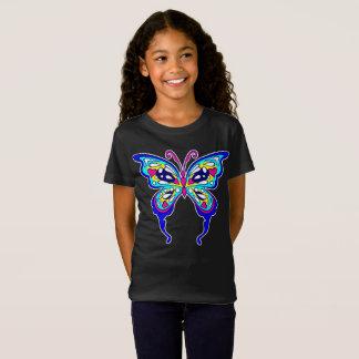 Camiseta T da borboleta das meninas