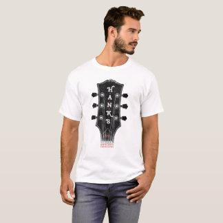 Camiseta T da cabeça da guitarra de Hank (homens)