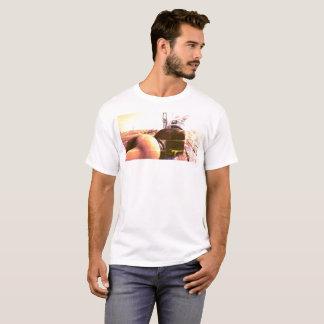 Camiseta T da caixa da parte traseira