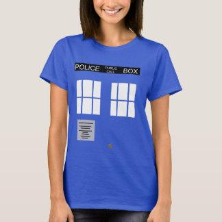 Camiseta T da caixa de polícia