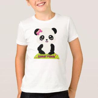 Camiseta T da campainha da panda de Kawaii